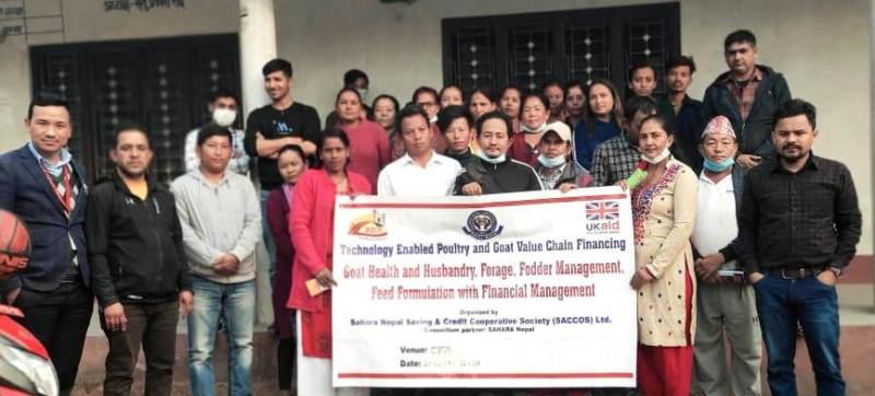 सहारा नेपाल साकोसका सदस्यलाई बाख्रा पालन तालिम